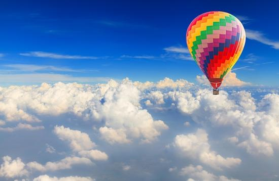 hot air balloon, balloons, clouds, air travel