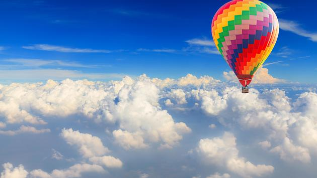 hot air balloon, balloons, clouds, air travel