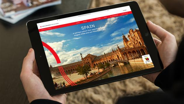 Air Canada Vacations Dream of Europe Digital Platform