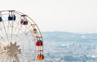 Ferris Wheel overlooking Barcelona