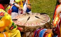 Colorful regalia at a Native American Pow Wow.