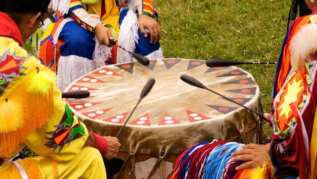 Colorful regalia at a Native American Pow Wow.