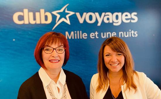 Julie Carpentier et Johanne René de Cotret, Club Voyages Mille et une nuits
