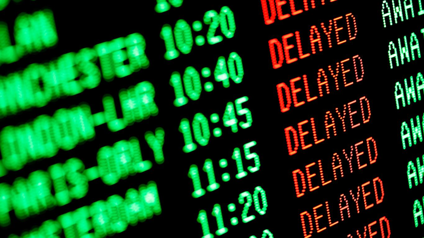 The Summer's Most Delayed Airports
