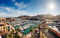 Aerial view of Cabo San Lucas, Mexico