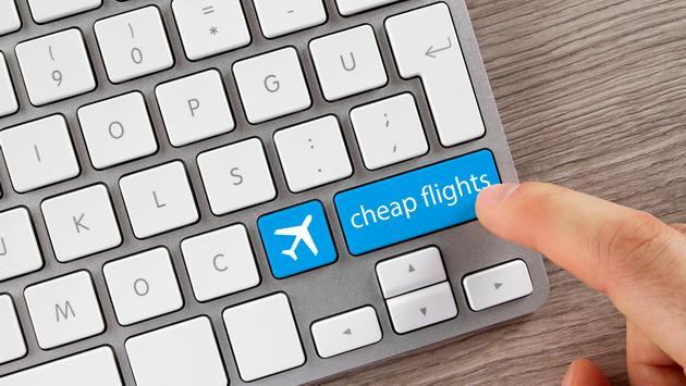 Cheap Flights Button on Computer Keyboard