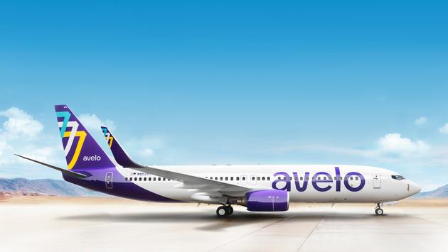 Avelo Airlines livery.