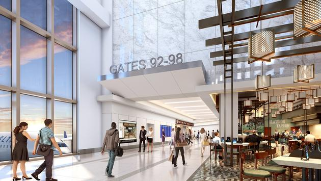 Rendering of Delta's new terminal at LaGuardia Airport