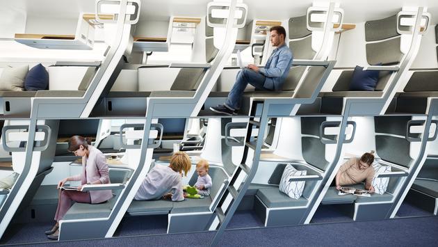 Zephyr Aerospace's new double-decker seat concept.