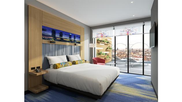 A King Loft Terrace at Aloft Madrid Gran Vía