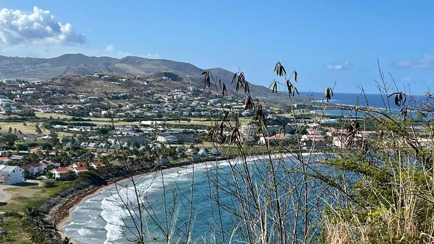 Overlooking St. Kitts' Frigate Bay