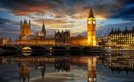 Westminster and Big Ben by the River Thames in London, UK