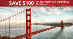 $100 Off Northern Rail Experience