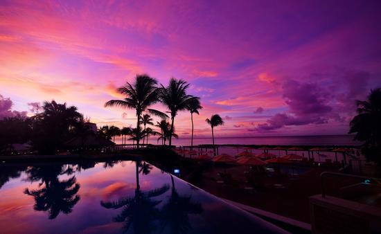 Hilton Barbados sunrise