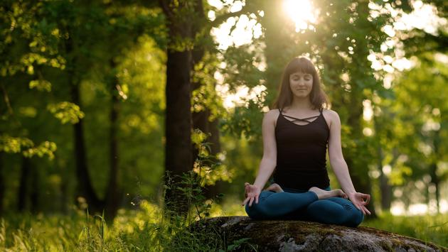 Reap the benefits when combining mindfulness, yoga and forest bathing.
