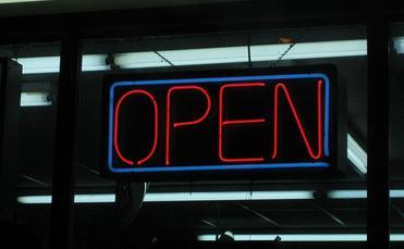 neon 'open' sign