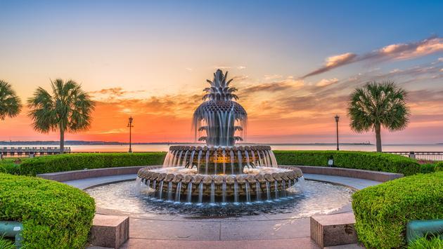 Pineapple Fountain, Waterfront Park, Charleston, South Carolina