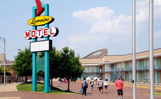 The National Civil Rights Museum at the site of the former Lorraine Motel in Memphis, Tennessee