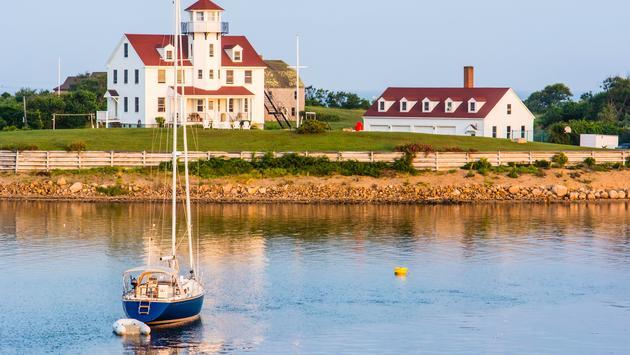 Coast Guard station on Block Island, Rhode Island.