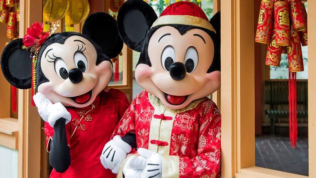 Minnie and Mickey celebrate Lunar New Year at Disneyland Resort.