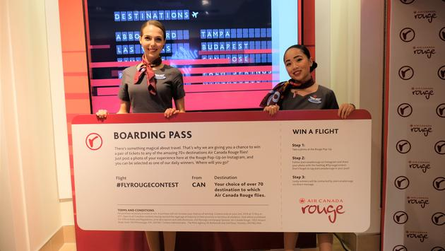 Air Canada Rouge Pop-up Shop