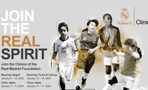 5 Days of Soccer Clinics Taught by Coaches of the Real Madrid Foundation, at Beaches Resorts!