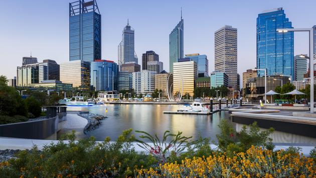 Elizabeth Quay in Perth, Australia