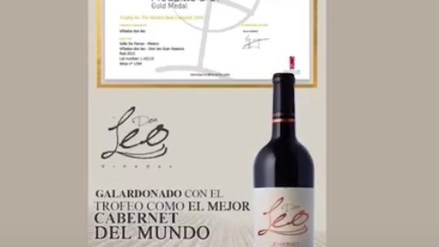 El Cabernet Sauvignon Gran Reserva 2013 de las bodegas de Vinos Don Leo fue reconocido como el mejor del mundo