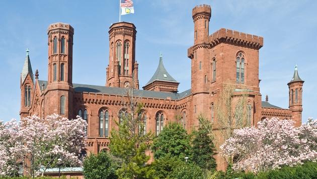The Smithsonian Castle and Information Center of the Smithsonian Institution in Washington, DC.