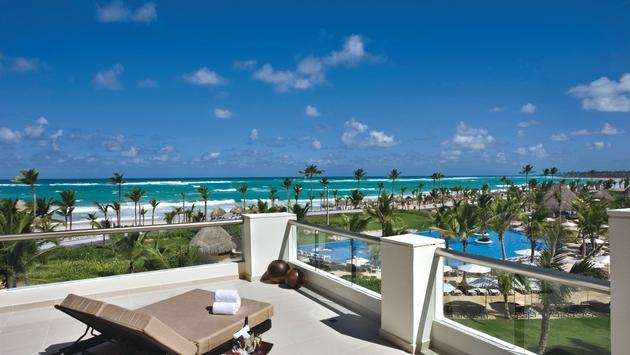 Balcony view of the beach at Hard Rock Hotel & Casino Punta Cana