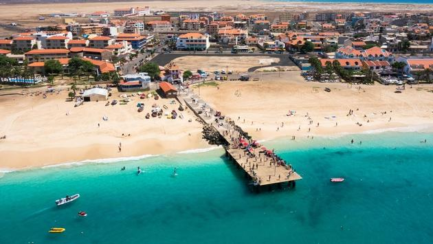 Santa Maria beach in Cape Verde