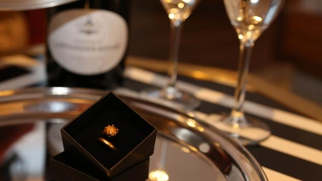 ring, engagement, champagne glasses, marriage