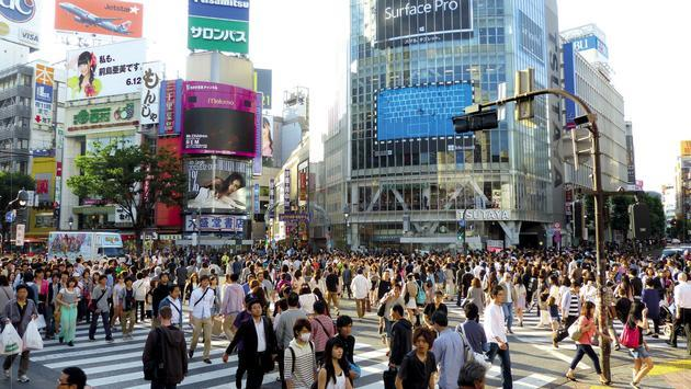 Shibuya is just one of many shopping districts in Tokyo, Japan.