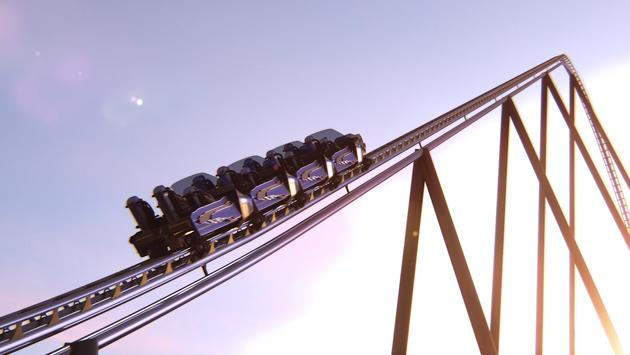 Six Flags Qiddiya's record-breaking Falcon's Flight roller coaster.