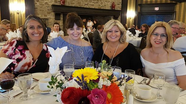 Marie Odorizzi (This is Travel), Karen Gill (Plan A Vacation), Nellie Pedro (Gente de Nossa TV), and Maria Monteiro (Revista Amar) enjoy the Azores Airlines event in Toronto.