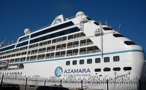 Azamara cruise ship in port