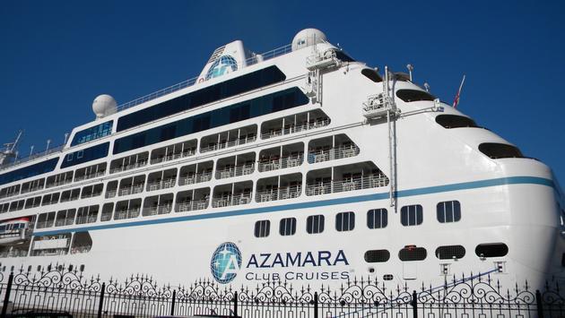 Azamara cruise ship in port