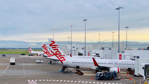 Virgin Australia aircrafts at Sydney Airport