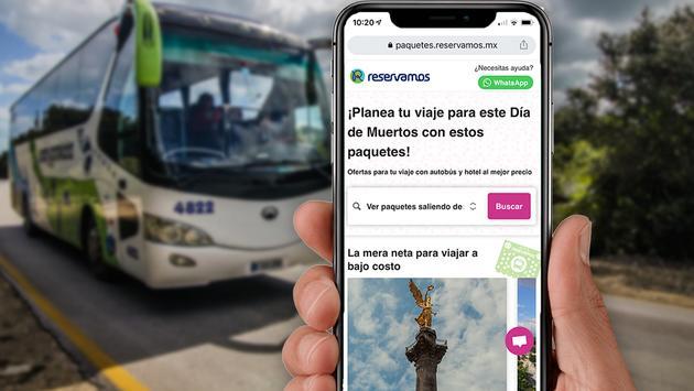 La red de la plataforma de búsqueda Reservamos contiene más de 100 mil rutas, principalmente por tierra, a más de 170 destinos en México.