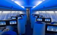 Delta One suites in a Boeing 757-200ER