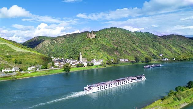 Crystal luxury river ship in Europe