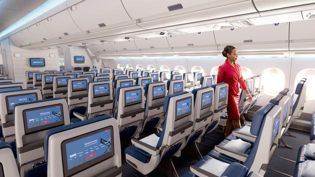 Delta aircraft seatback screens