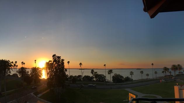 Sunset from the Hi-Fi Bar at the Fenway Hotel, Dunedin Florida