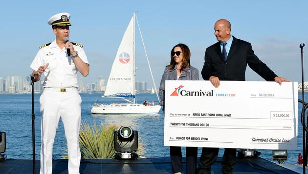 Carnival Presents Check to Point Loma