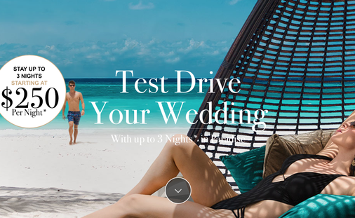 Test Drive Your Weddingmoon & WIN up to 3 Nights in Paradise!