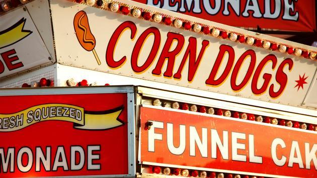 State Fair food signage
