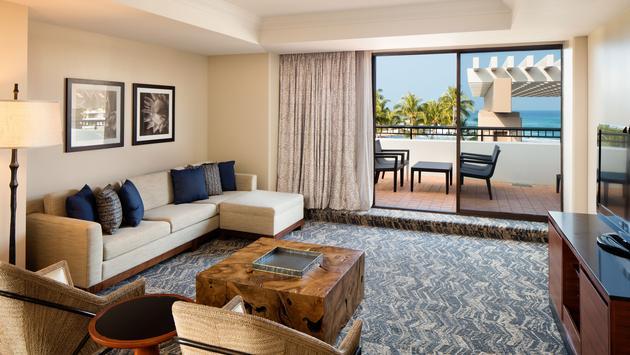 Hilton Waikoloa Village Suite Living Area