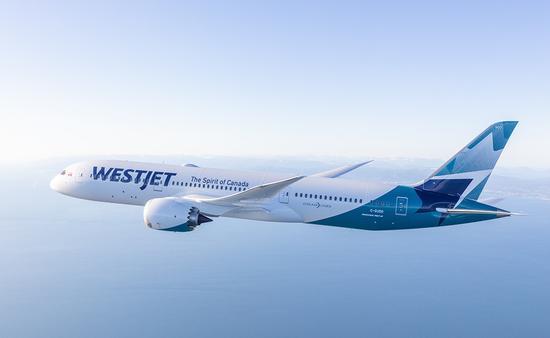 Un avion de WestJet