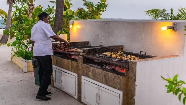 Turneffe Island Resort beach grilling