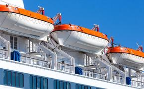 Rescue boats on big passenger ship